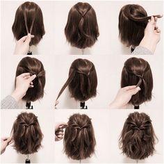 15 Möglichkeiten, Ihre Lobs zu stylen (Long Bob Frisur Ideen) – Frisuren - New Site 15 maneiras de estilizar seus penteados (idéias de penteado longo Bob) - hairstyles Braids For Short Hair, Long Ponytails, Twisted Ponytail, Easy Hairstyles For Short Hair, Short Hair Dos, Long Bob Updo, Bob Hairstyles How To Style, Hairstyles For Bobs, Ponytail Hairstyles