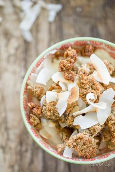 Grain & Nut Free Cinnamon Coconut Crunchy Granola