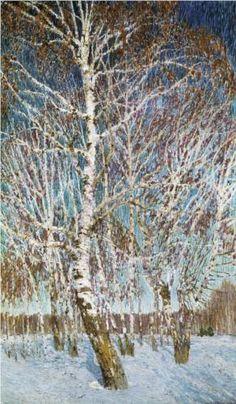 """Igor Grabar (Игорь Эммануилович Грабарь, 1871-1960)  """"February"""""""