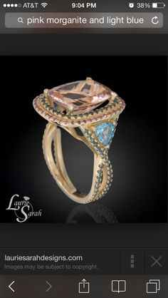 The light blue with pink morganite and rose gold