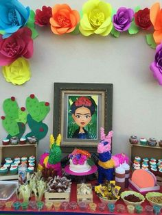 Fiesta Theme Party, Birthday Party Themes, Themed Parties, Frida Kahlo Birthday, Mexico Party, Mexican Birthday, Diy Party, Party Ideas, Party Planning