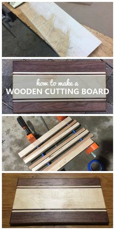 How to make a wooden cutting board!