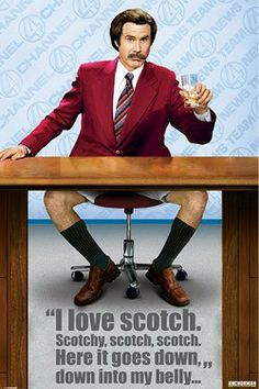 Anchorman The Legend of Ron Burgundy Scotchy Poster - Only £6!!