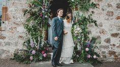Tess and Alfred Newall on their wedding day Wedding Flowers, Wedding Day, Wedding Dress, English Country Weddings, Old Dresses, Edinburgh, Feminine, Elegant, Coat