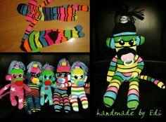 Zokni majmocskàk-sock monkey