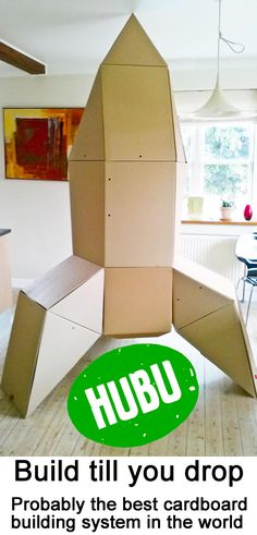 We love to build and construct and we love cardboard. And now it's possible to live out your fantasy. Not just bricks on a table but your own life size creations :-) HUBU. Building Systems, Bricks, A Table, Construction, Fantasy, Live, Creative, Ideas, Home Decor