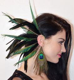 Feather Ear Cuff Black Chic by Njuu on Etsy, $35.00