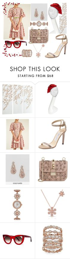 """Cherries 🍒🍒🍒🍒"" by p0llyinurpocket ❤ liked on Polyvore featuring Cyan Design, Victoria Grant, Valentino, Jimmy Choo, Ted Baker, Anne Sisteron, Thierry Lasry, Palm Beach Jewelry and RED Valentino"