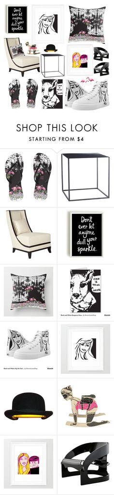 """""""Pink and Black Decor"""" by tatianamab ❤ liked on Polyvore featuring interior, interiors, interior design, home, home decor, interior decorating, Innermost and Kartell"""