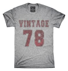 1978 Vintage Jersey T-Shirts, Hoodies, Tank Tops