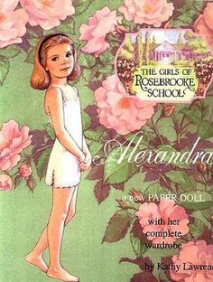 """""""The Girls of Rosebrooke School"""" Series  - Alexandra by Kathy Lawrence - B. Shackman & Co., 1999: Front Cover"""