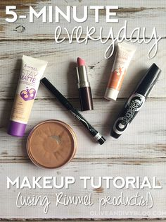 5-minute everyday makeup tutorial using Rimmel London US products from Walmart - Olive & Ivy #shop #cbias #beautyinspiration