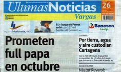 Últimas Noticias Vargas lunes 26 septiembre  de  2016