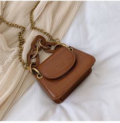 Buy Miloes Faux Leather Mini Crossbody Bag | YesStyle Stylish Handbags, Hobo Handbags, Fashion Handbags, Purses And Handbags, Fashion Bags, Prada Handbags, Cheap Handbags, Hobo Purses, Cheap Bags