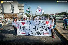Dios me cambio la vida  Marchando para Jesús en la Marcha para Jesús, Santa Cruz de la sierra- Bolivia 2016