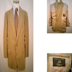Orvis Men's 40R Beige Two Button Sports Coat Fully Lined Single Vent USA #Orvis #TwoButton $40.50