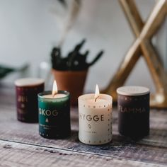 The JUL (Christmas) Candle Set by Skandinavisk features 4 mini scented candles that will bring the Scandinavian Christmas to your home. Roaring fires, pine needles in your socks, and the joyous buzz of shared moments.