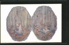 Künstler-AK Henriette Willebeek le Mair: The babes in the wood, Kinder im…