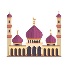 Modern Flat Elegant Islamic Mosque Building Illustration Eid Al Adha Vector and PNG Eid Al Adha, Backgrounds Free, Colorful Backgrounds, Motifs Islamiques, Mosque Vector, City Vector, Vector Map, Vector File, Eid Milad