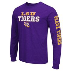 """LSU+Tigers+""""Game+Changer""""+Men's+Long+Sleeve+Tee+by+Colosseum"""