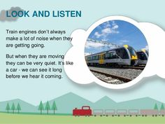 Slide share with embedded video about Rail Safety for teachers, caregivers,parents, and students. Can be used as a stand alone or with teaching resources.