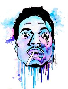 ae2b4f7774ad8 Custom-Made Chance the Rapper Poster by artofgina on Etsy Chance The Rapper  Art