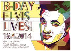 Elvis flyer B-Day