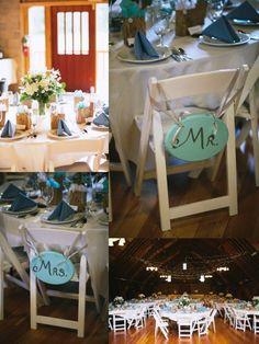 Mr. and Mrs. Wedding Details & Blue Table Settings  Leavenworth, WA Wedding Blog | Pine River Ranch