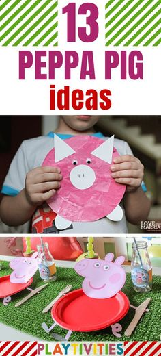 You may be the parent, whose kids are just obsessed by little, pink and cute Peppa Pig characters. Kids love watching these series. So, here you will find cute 13 Peppa pig ideas for kids! #Peppapignoses, #Peppapigcraft, #Peppapigpartyideas #DIYpeppapig #DIYideasforkids #DIYToysforkids #DIYPeppaForkids #FunActivitiesForKids Animal Activities For Kids, Indoor Activities For Kids, Fun Crafts For Kids, Toddler Activities, Projects For Kids, Weekend Projects, Pig Crafts, Book Crafts, Preschool Crafts