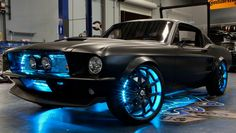 My business unit at Microsoft worked with West Coast Customs to trick out this 1967 Mustang Fastback and load it with tech.  You can even watch movies on the rear window when you are outside the car!
