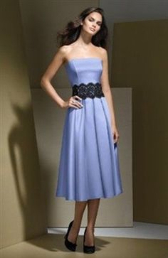 Lace Blues A-line Knee-length #Prom #Dress Style Code: 00044 $79
