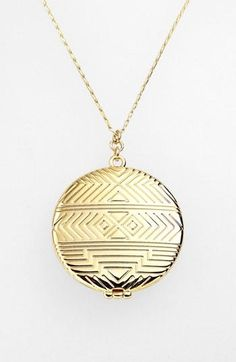 Love! House of Harlow 1960 Geometric Medallion Locket