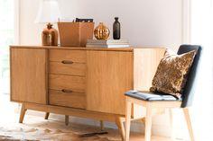 Marte skjenk - Skeidar Oak Sideboard, Credenza, Office Desk, Cabinet, Living Room, Storage, Interior, Furniture, Home Decor