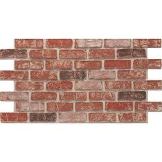 CompStone Faux Panels - Used Brick - Old Town panel - 4 pack sq. Faux Brick Walls, Brick Paneling, Faux Brick Wall Panels, Brick Mason, Stone Veneer Panels, Interior Window Trim, Interior Brick Walls, Brick Projects, House Projects