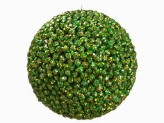"""The image of the Holiday ~~ 4  XN8046-GR/IR    6.5"""" Sequin Ball Ornament Green Iridescent"""