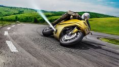 Bosch is testing a new gas-powered anti-slide system, for motorcycles. MSC motorcycle stability control, is the world's first all-in-one safety system for… Motorcycle Tips, Motorcycle Wheels, Bosch, Reverse Thrust, Automobile Industry, Triumph Motorcycles, Concept Motorcycles, Custom Motorcycles, Digital Trends