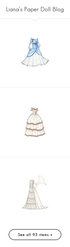 """""""Liana's Paper Doll Blog"""" by tasteofglitter ❤ liked on Polyvore featuring dresses, backgrounds, paper dolls, gowns, desenhos, paper doll, paperdolls, dolls, blue and sketches"""