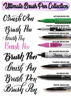 The Beginner's Guide to Brush Lettering Ultimate Procreate Brush Pen Collection Bonus goodies Hand Lettering For Beginners, Calligraphy For Beginners, Hand Lettering Tutorial, How To Learn Calligraphy, Brush Pen Calligraphy, Calligraphy Alphabet Tutorial, Calligraphy Letters, Brush Lettering Pens, Calligraphy Markers