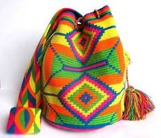 Mochila Wayuu Bag Handmade in La Guajira, Colombia. Find it in my Ebay Store for only $75.00
