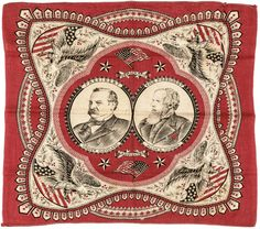 Buy online, view images and see past prices for 1880 Presidential Campaign Bandanna Grover Cleveland +Allen G. Invaluable is the world's largest marketplace for art, antiques, and collectibles. Bandanas, Grover Cleveland, Old Glory, Neckerchiefs, Early American, Usa Flag, Fourth Of July, American History, Vintage World Maps