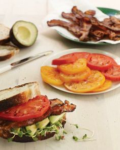 Bacon, Avocado, and Tomato Sandwich Recipe