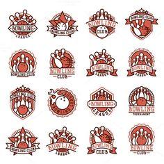 Vector bowling logo emblem. Vintage Design. $4.00