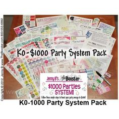The SYSTEM to assure that your have $1000 Parties.   TheBooster.com - on sale until tomorrow, but available anytime - incl. Davette Brown in referral link