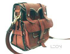 Leather Bag by Leon Litinsky