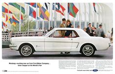 Vintage Mustang print ad