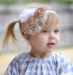 """Search """"Glass of Champagne"""" at www.artisticinclinations.com to order this handmade headband"""
