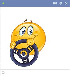 This smiley is on its way to Facebook to wish your friends a great day.