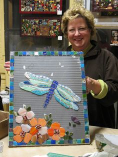 Nancy and her dragonfly     beautiful job! you will love this Mosaic sit