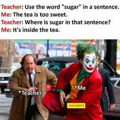 Funny School Jokes, Very Funny Jokes, Crazy Funny Memes, Love Memes, Top Funny, Really Funny Memes, Funny Laugh, Funny Relatable Memes, Haha Funny