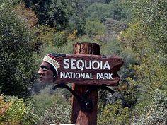 Sequoia National Park, a California natlpark located near Tulare ...